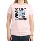 IWearLightBlue Husband T-Shirt