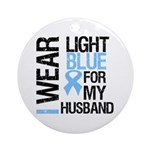 IWearLightBlue Husband Ornament (Round)