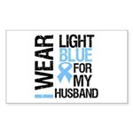 IWearLightBlue Husband Rectangle Sticker 10 pk)