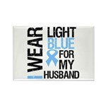 IWearLightBlue Husband Rectangle Magnet