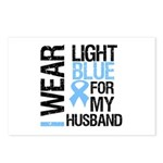 IWearLightBlue Husband Postcards (Package of 8)