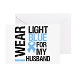 IWearLightBlue Husband Greeting Card