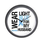 IWearLightBlue Husband Wall Clock