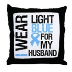 IWearLightBlue Husband Throw Pillow