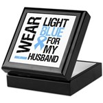 IWearLightBlue Husband Keepsake Box
