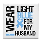 IWearLightBlue Husband Tile Coaster