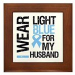 IWearLightBlue Husband Framed Tile