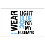 IWearLightBlue Husband Large Poster
