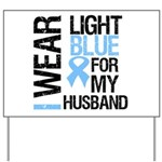 IWearLightBlue Husband Yard Sign