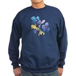 Watercolor Flowers Sweatshirt (dark)