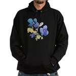 Watercolor Flowers Hoodie (dark)