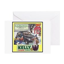"""""""1944 Kelly Tire Ad"""" Greeting Card"""