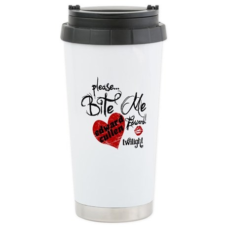 Bite Me Edward Cullen Ceramic Travel Mug