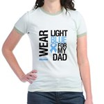 IWearLightBlue Dad Jr. Ringer T-Shirt