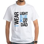 IWearLightBlue Dad White T-Shirt