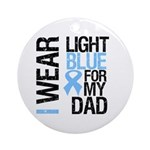 IWearLightBlue Dad Ornament (Round)