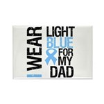 IWearLightBlue Dad Rectangle Magnet (100 pack)
