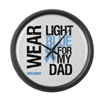IWearLightBlue Dad Large Wall Clock