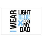 IWearLightBlue Dad Large Poster