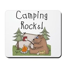 Bear Camping Rocks Mousepad
