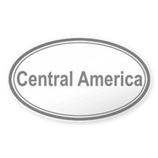Central America (oval) Oval Decal