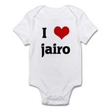I Love jairo Infant Bodysuit
