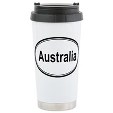 Australia (oval) Travel Mug