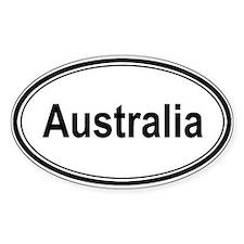 Australia (oval) Oval Decal