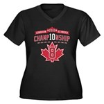2010 Championship Women's Plus Size V-Neck Dark T-