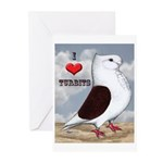 Red Turbit Pigeon Greeting Cards (Pk of 20)