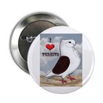 "Red Turbit Pigeon 2.25"" Button (10 pack)"