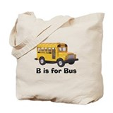 B is for Bus Tote Bag