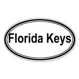 Florida Keys (oval) Oval Decal