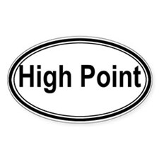 High Point (oval) Oval Sticker (50 pk)