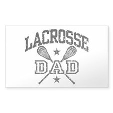 Lacrosse Dad Rectangle Decal