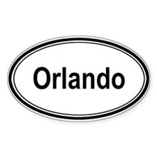 Orlando (oval) Oval Decal