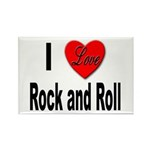 I Love Rock and Roll Rectangle Magnet (10 pack)