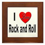 I Love Rock and Roll Framed Tile