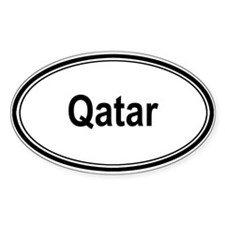 Qatar (oval) Oval Sticker (50 pk)