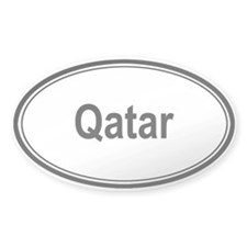 Qatar (oval) Oval Decal