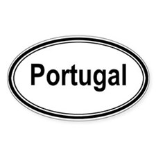 Portugal (oval) Oval Sticker (10 pk)