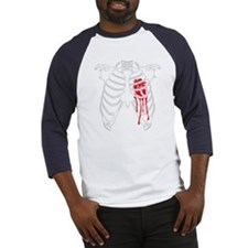 Funny Bleeding heart Baseball Jersey