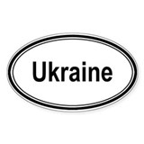 Ukraine (oval) Oval Decal