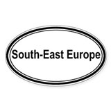 South-East Europe (oval) Oval Decal