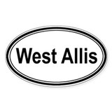 West Allis (oval) Oval Sticker (10 pk)
