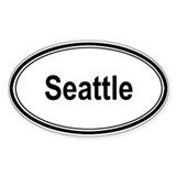 Seattle (oval) Oval Decal