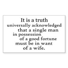 Pride And Prejudice Rectangle Sticker 10 pk)