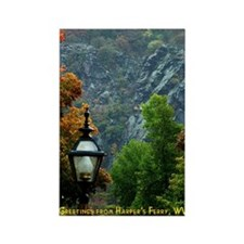 Harper's Ferry in the Fall Rectangle Magnet