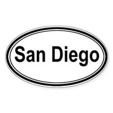 San Diego (oval) Oval Decal