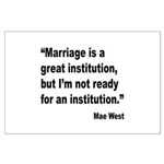 Mae West Marriage Quote Large Poster